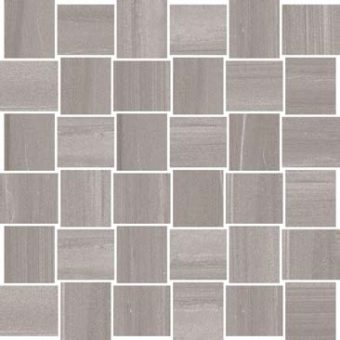 Monza - Light Grey - Basketweave - Mosaic