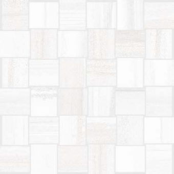 Monza - White - Basketweave - Mosaic